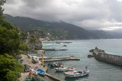 Monterosso village sea view in Italy Royalty Free Stock Images