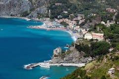 Monterossoal Merrie, Ligurië, noordelijk Italië Royalty-vrije Stock Afbeeldingen