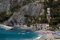 Monterossoal Merrie, Ligurië, noordelijk Italië Royalty-vrije Stock Afbeelding