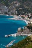 Monterossoal Merrie, Ligurië, noordelijk Italië Stock Fotografie