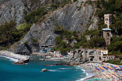 Monterossoal Merrie, Ligurië, noordelijk Italië Stock Afbeeldingen