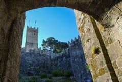 Monterreal kasztel, Baiona Hiszpania Fotografia Stock