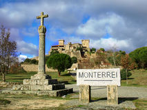 Monterrei Castle in Verin Stock Photo