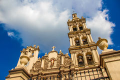Monterrey Mexico Cathedral. 10 10 2016 / Photograph of an old stone catholic church facade of Cathedral of Monterrey Mexico Stock Photography