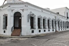Monterrey, Mexico. A white colonial building at Monterrey, Mexico Stock Photo