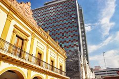 Monterrey, Mexico. Contemporary and classic buildings in the city of Monterrey, Mexico Royalty Free Stock Photography