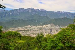 Monterrey, Mexico. The mountains surrounding the city of Monterrey, Mexico royalty free stock photos