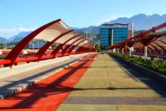 Monterrey, Mexico. A pedestrian bridge in Monterrey, Mexico Royalty Free Stock Image