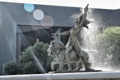 Monterrey, Mexico. Statues at the plaza in Monterrey, Mexico Stock Photography