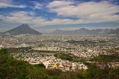 Monterrey, Mexico. The urban sprawl of Monterrey, Mexico Stock Images