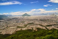 Monterrey, Mexico. The urban sprawl of Monterrey, Mexico royalty free stock photos