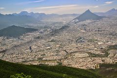Monterrey, Mexico. The urban sprawl of Monterrey, Mexico royalty free stock photo