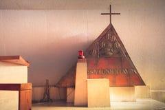 MONTERREY,NUEVO LEON / MEICO - 01 02 2017: Basilica de Guadalupe. Photograph of an interior detail of Baislica de Guadalupe in Monterrey Mexico royalty free stock photos
