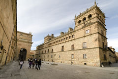 Monterrey Palace. SALAMANCA, SPAIN - FEBRUARY 5, 2013: Group of young students beside the Palacio de Monterrey, Monterrey Palace in Salamanca (Spain) is one of Royalty Free Stock Images