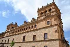 The Monterrey Palace of Salamanca. Monterrey Palace in Salamanca (Spain) is one of the greatest exponents of the art style plateresco in Spain. Built by the Royalty Free Stock Images