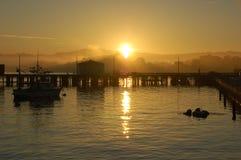Monterrey Sunrise. Sunrise over the harbor in Monterrey, CA Stock Photography