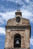 Monterubbiano - Belfry of a medieval church Stock Photo