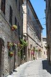 Monterubbiano - Old street Stock Photography