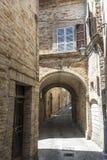 Monterubbiano - Old street Stock Images