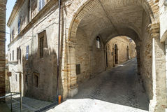 Monterubbiano - Old streets Stock Photography