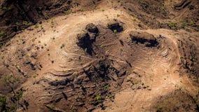 Montes áridos e resistidos no MacDonnells ocidental Fotos de Stock