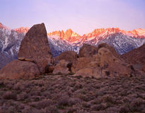 Montes 1 de Mount Whitney & de Alabama Imagem de Stock