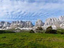 Montes Alanos Valle di Zuriza pyrenees spain L'Aragona immagine stock