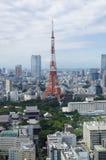 Montes da torre e do roppongi de Tokyo Fotografia de Stock