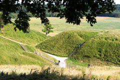 Montes de Kernave Fotografia de Stock Royalty Free