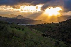 ¡ Montes de MÃ laga Hügel, Màlaga, Spanien Stockbild