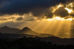 ¡ Montes de MÃ laga Hügel, Màlaga, Spanien Stockfotografie