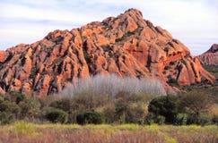 Montes de pedra vermelhos pouco Karoo Imagens de Stock Royalty Free