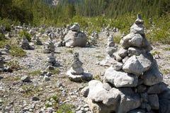 Montes de pedras Fotografia de Stock Royalty Free