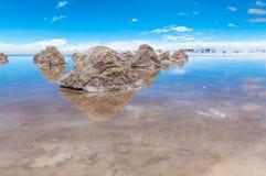 Montes de sal em Salar de Uynui Imagem de Stock Royalty Free