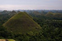 Montes do chocolate, Bohol, Filipinas Foto de Stock