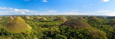 Montes do chocolate de Bohol fotografia de stock