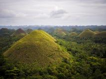 Montes do chocolate na ilha de Bohol, Filipinas Imagens de Stock