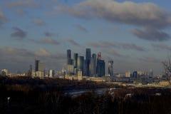 Montes do pardal, Moscou foto de stock