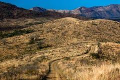 montes do terreno da estrada de terra 4x4 Foto de Stock