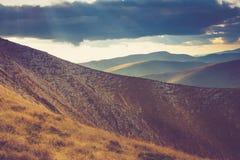 Montes do vermelho do outono Fotos de Stock Royalty Free