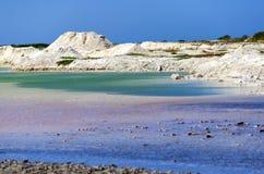 Montes e associações de sal em Rio Lagartos fotografia de stock royalty free