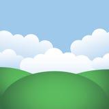 Montes e céu azul ilustração stock