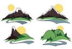 Montes e montanhas Fotos de Stock