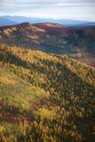 Montes e montanhas coloridos Fotos de Stock Royalty Free