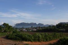 Montes e névoa em Cuba Imagem de Stock