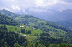 Montes e picos Imagem de Stock