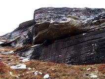 Montes e rocha Fotos de Stock
