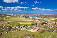 Montes e valey do vinhedo de Ludbreg Imagem de Stock