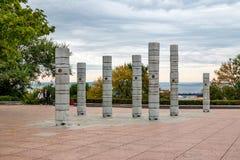 Montes esculturais Vladivostok da composição sete da arte moderna fotos de stock royalty free
