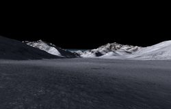 Montes escuros distantes fotos de stock
